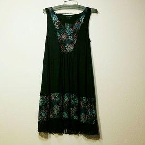 Nwt Boho Lacehem Dress
